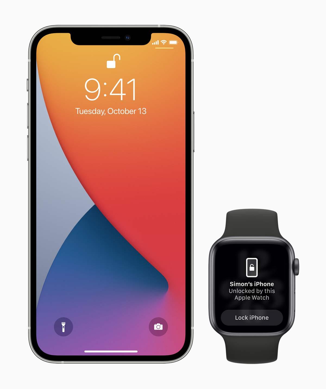 Apple iOS update iphone 12 pro watch series 6 unlocking screen