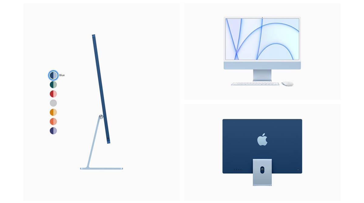 Blue iMac 24 inch